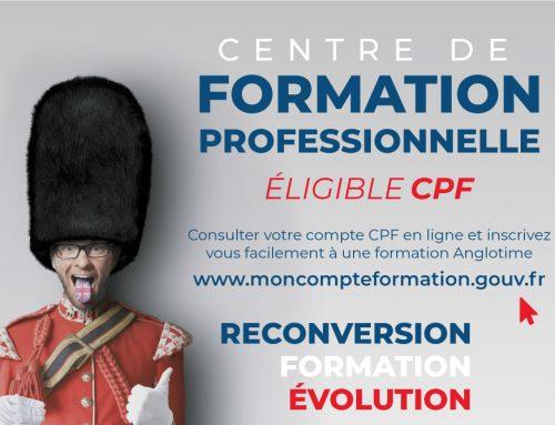 Centre de formation professionnelle éligible CPF !